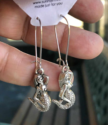 Mermaid Silhouette Earrings