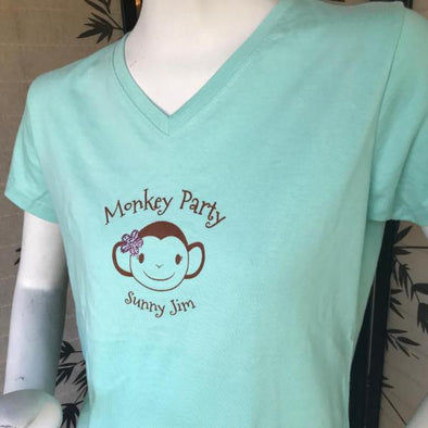 Monkey Party Ladies Tee