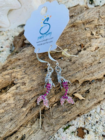 Rhinestone Mermaid Earrings