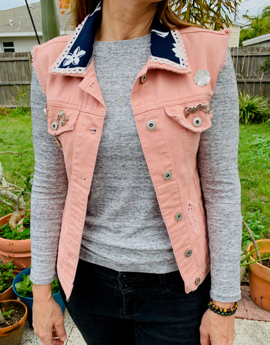 34 Upcycled Denim Jacket Fish