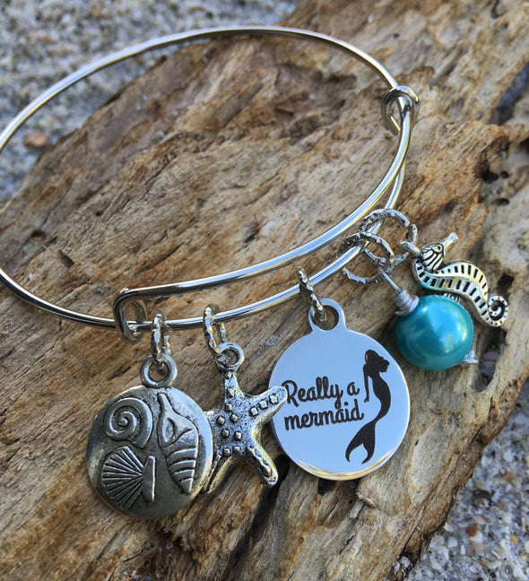 Really a Mermaid Bangle Bracelet