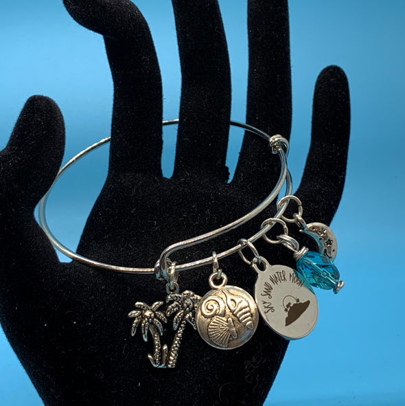 Sky Sand Water Moon Bangle Bracelet