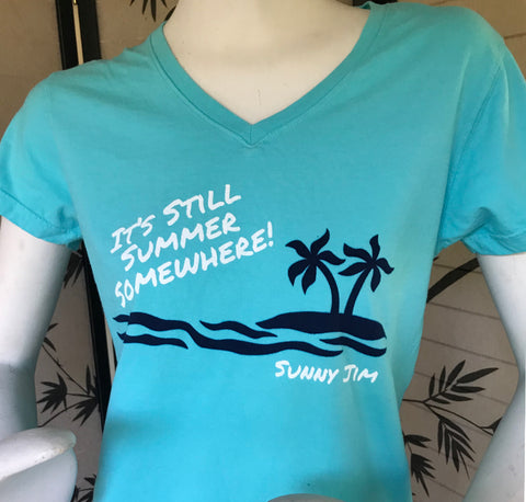It's Still Summer Somewhere T-shirt, Ladies