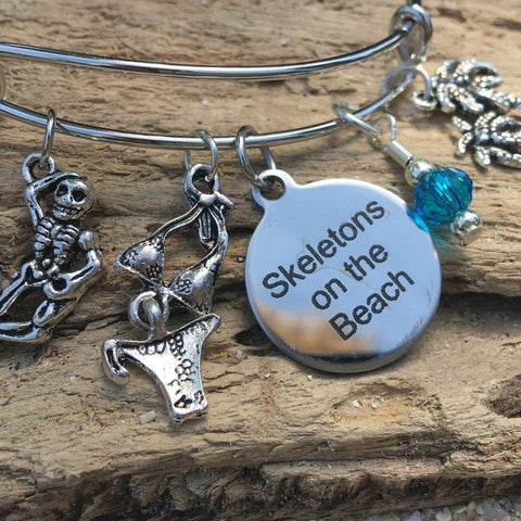 Skeletons on the Beach Bangle