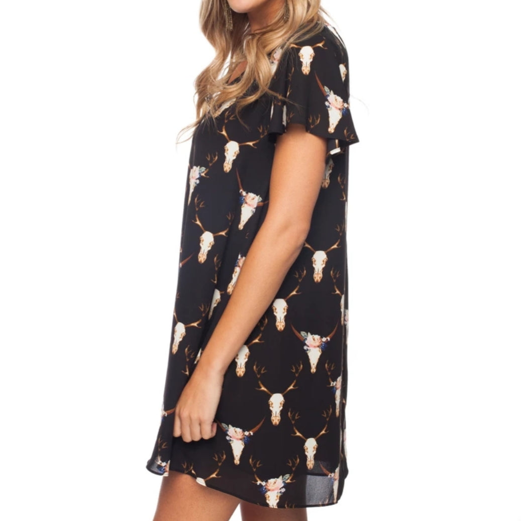 Antlers Shift Dress