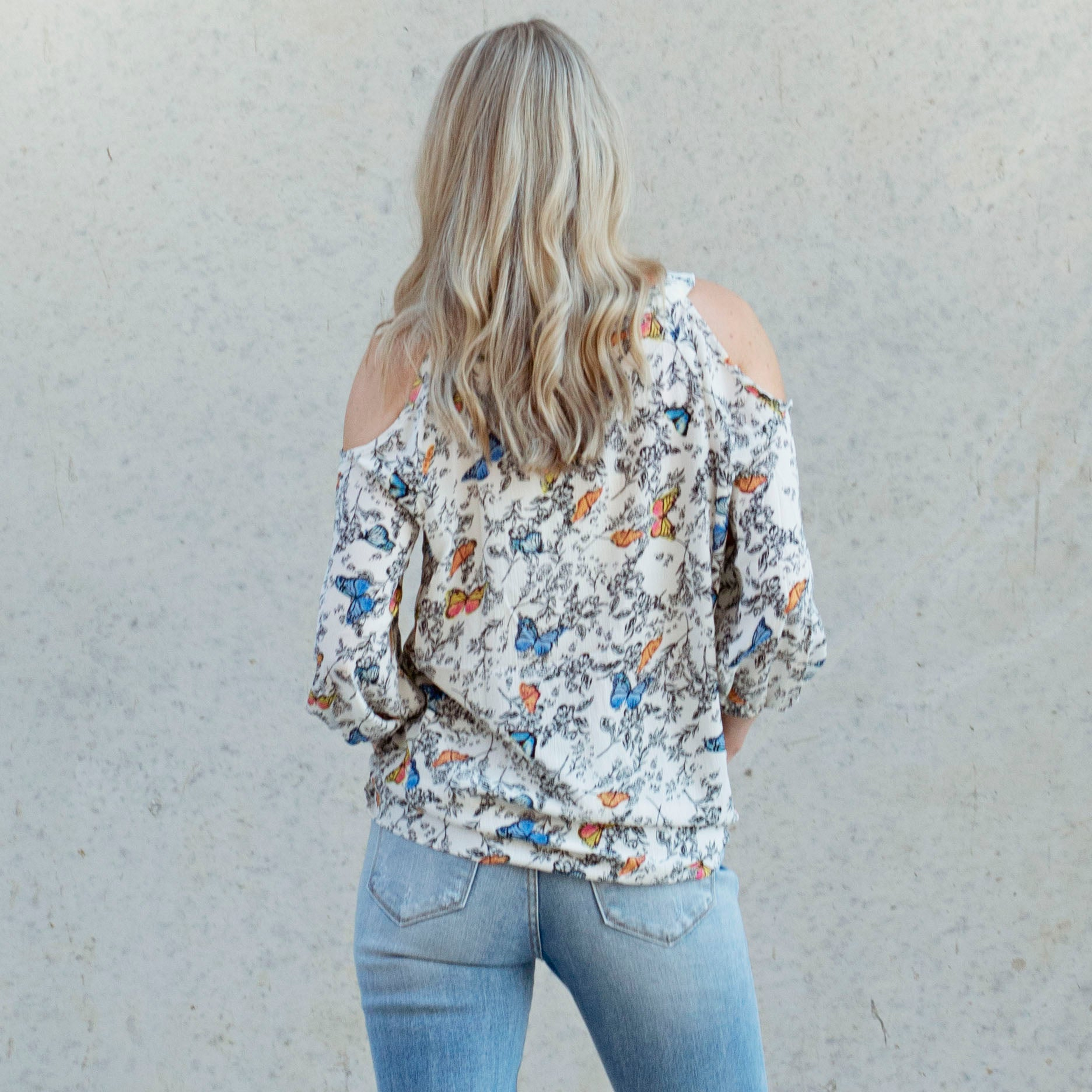 Butterfly Cold Shoulder Top