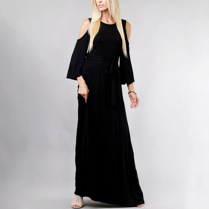 Delilah Cold Shoulder Maxi Dress