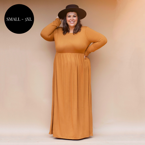 Madeline Maxi Dress in Toffee