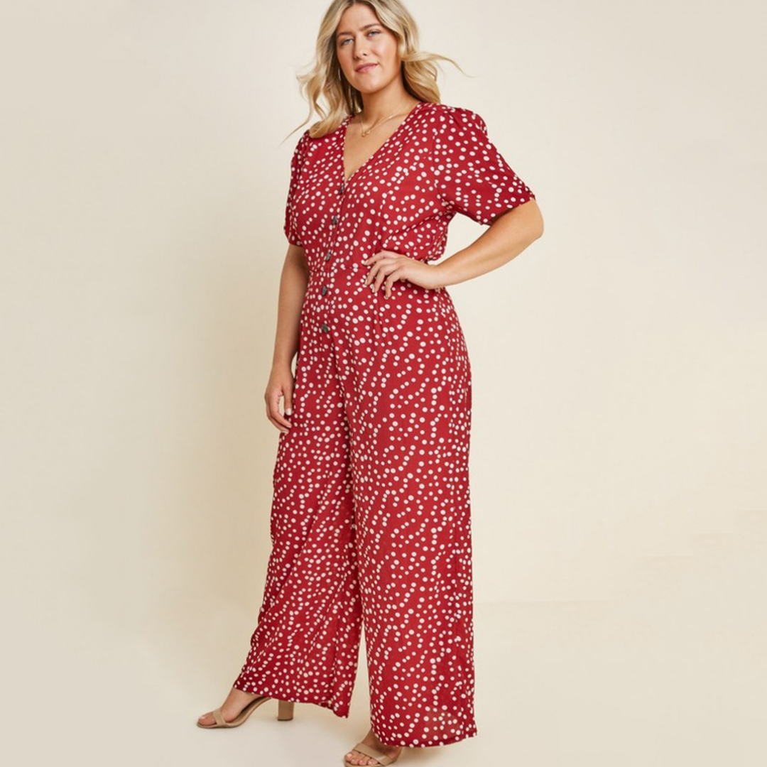 Knowles Red Polka Dot Jumpsuit