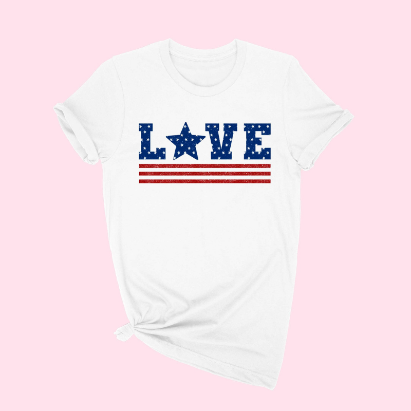 Tees - LOVE {Red, White & Blue}