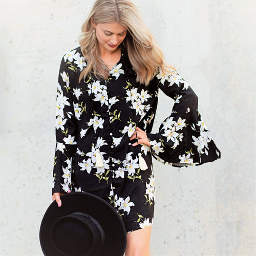 Boho Floral Shift Dress