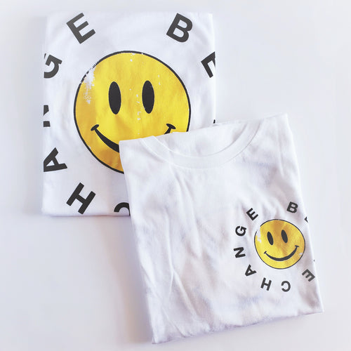 Be The Change Smiley Face Graphic Tee