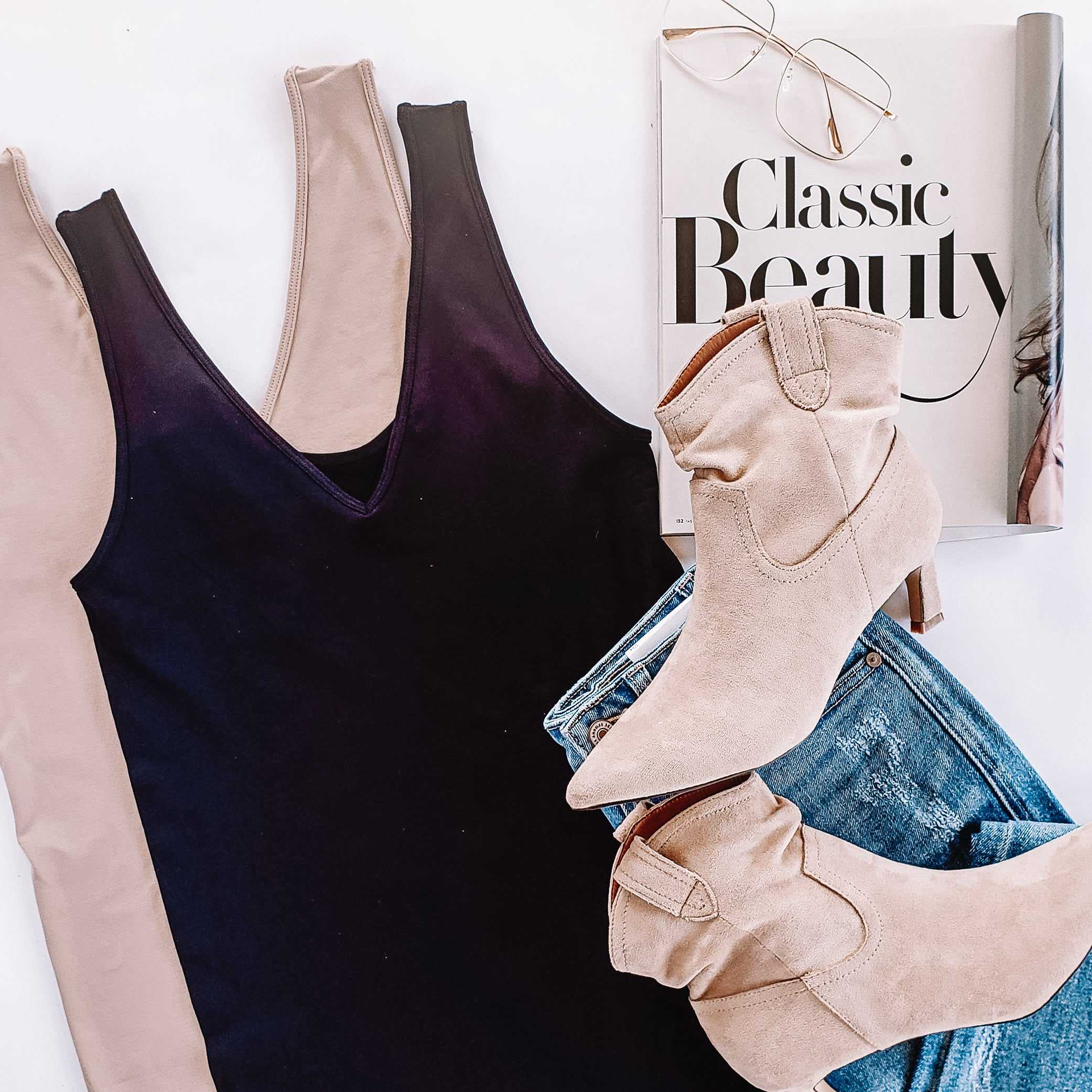 Classic Tank in Black or Taupe