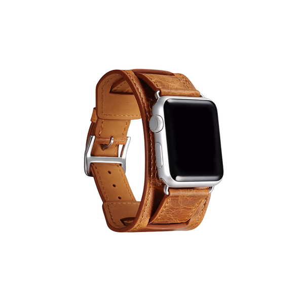 Orange Trinity Leather Apple Watch Band - By Dominic  - 2