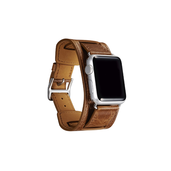 Brown Trinity Leather Apple Watch Band - By Dominic  - 2