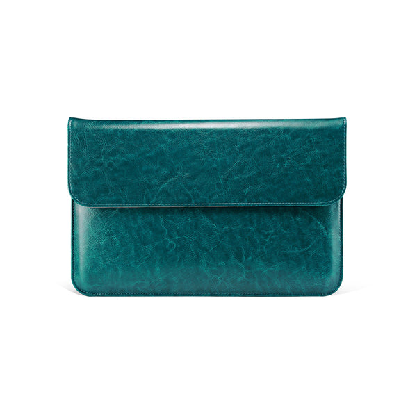 Teal Leather Case for MacBook - By Dominic  - 1