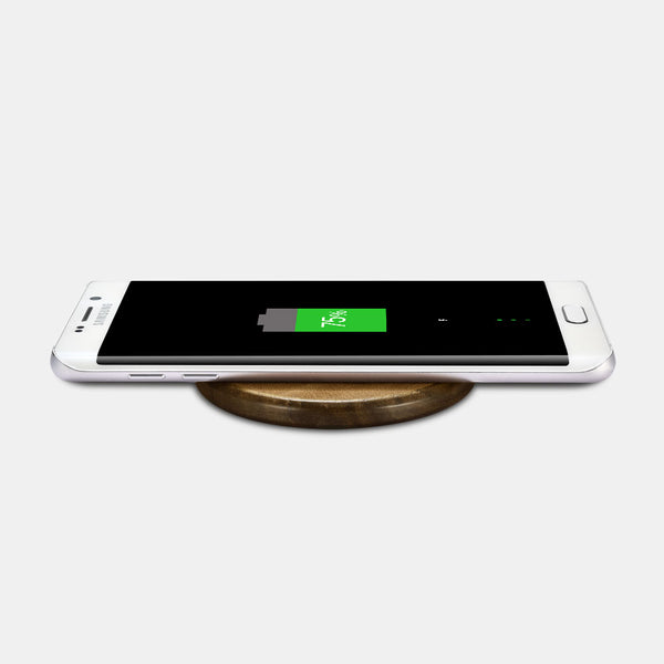 Supercharged Leather Qi Wireless Charger for iPhone and Android