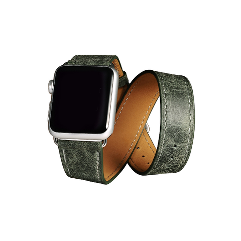 Green Trinity Leather Apple Watch Band - By Dominic  - 1