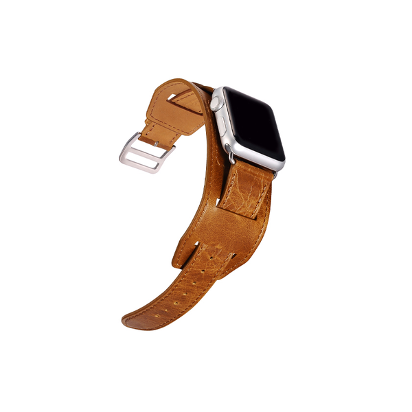 Orange Trinity Leather Apple Watch Band - By Dominic  - 7