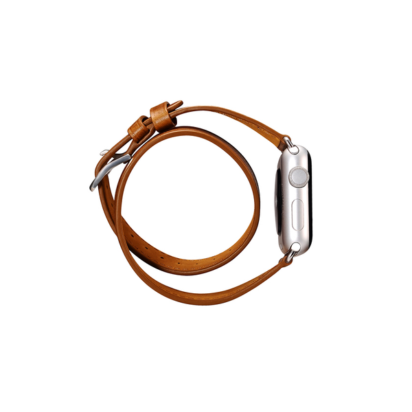 Orange Trinity Leather Apple Watch Band - By Dominic  - 8
