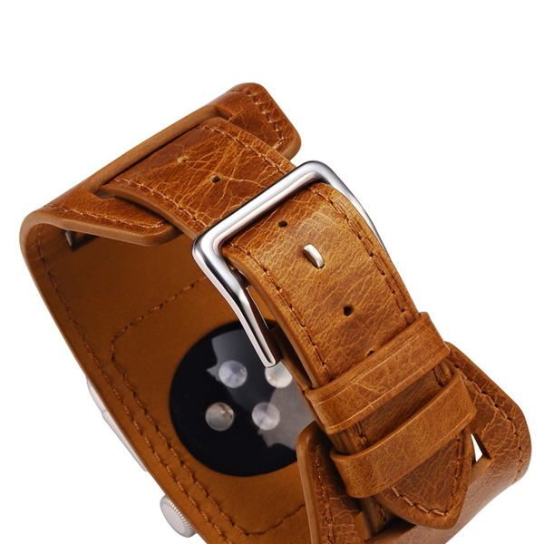 Orange Trinity Leather Apple Watch Band - By Dominic  - 10