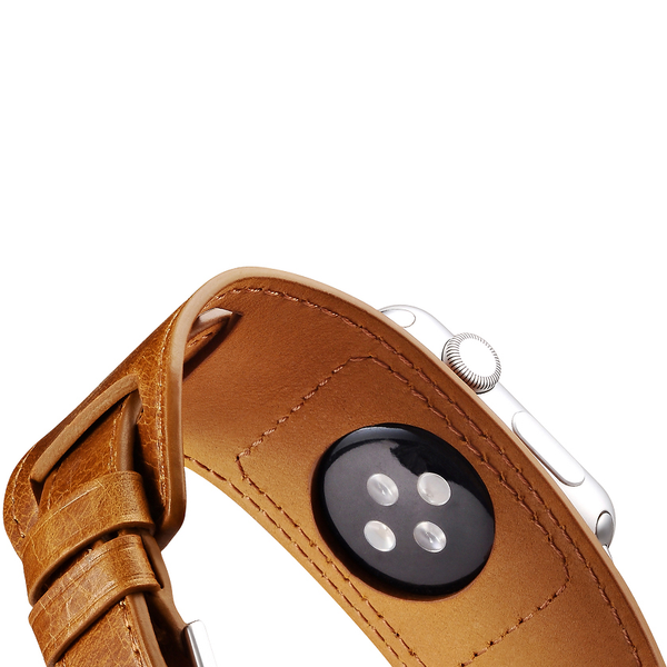 Orange Trinity Leather Apple Watch Band - By Dominic  - 11