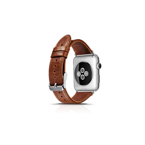 Vintage Brown Leather Apple Watch Band - By Dominic  - 2