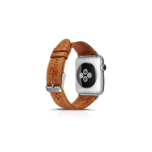 Vintage Orange Leather Apple Watch Band - By Dominic  - 2