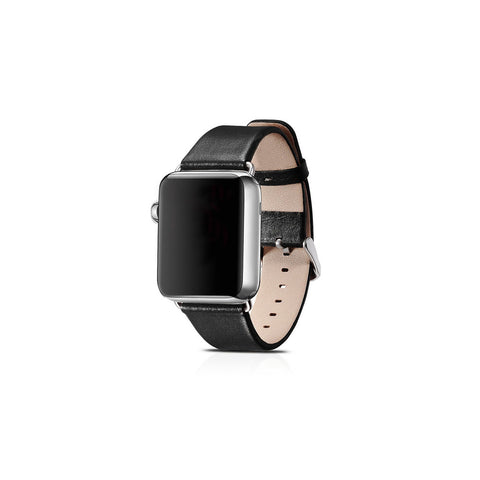 Luxury Black Leather Apple Watch Band - By Dominic  - 1