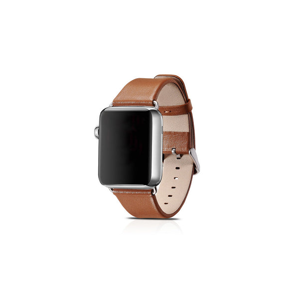 Luxury Brown Leather Apple Watch Band - By Dominic  - 1