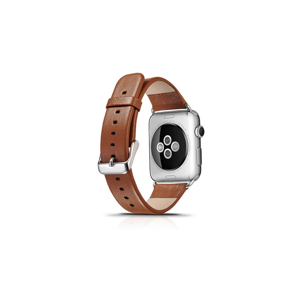 Luxury Brown Leather Apple Watch Band - By Dominic  - 2