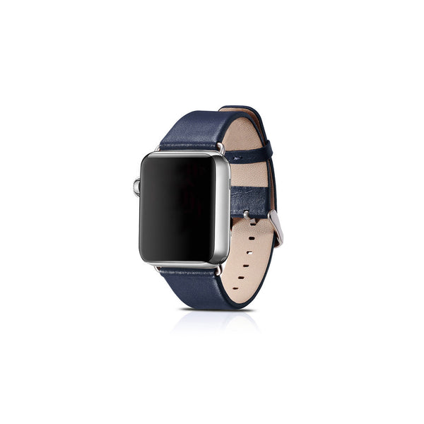 Luxury Blue Leather Apple Watch Band - By Dominic  - 1