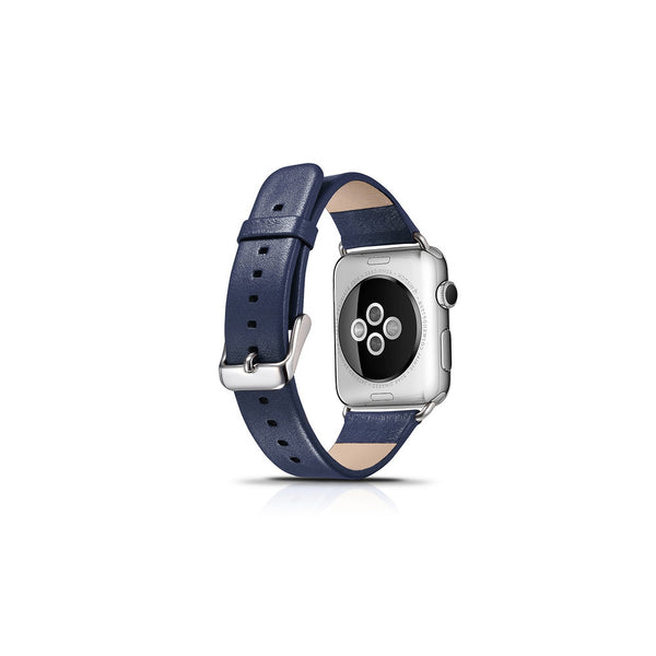Luxury Blue Leather Apple Watch Band - By Dominic  - 2