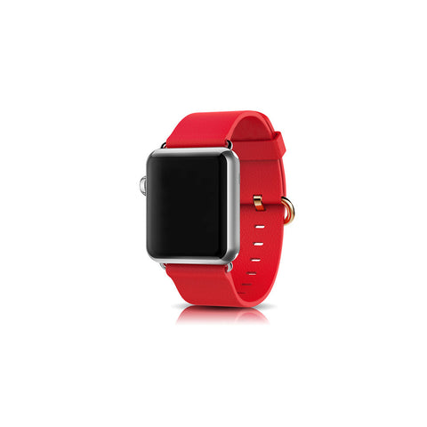 Classic Red Leather Apple Watch Band - By Dominic  - 1