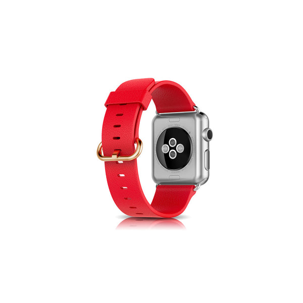 Classic Red Leather Apple Watch Band - By Dominic  - 2