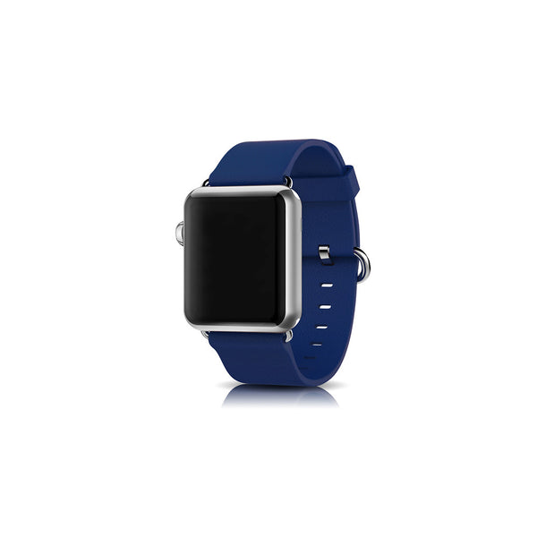 Classic Blue Leather Apple Watch Band - By Dominic  - 1