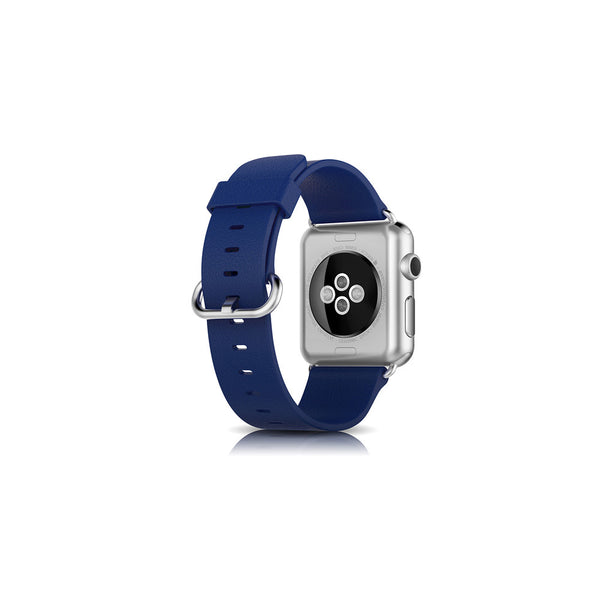 Classic Blue Leather Apple Watch Band - By Dominic  - 2