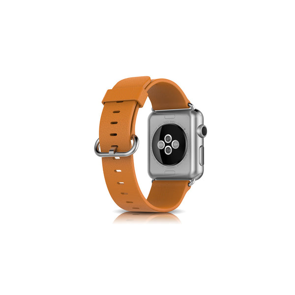 Classic Brown Leather Apple Watch Band - By Dominic  - 2