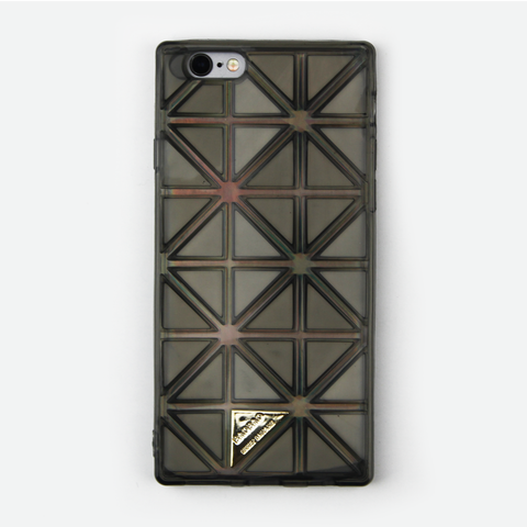 Black Geometric Holographic iPhone Case - By Dominic  - 1