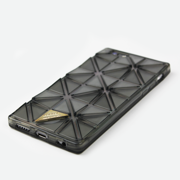 Black Geometric Holographic iPhone Case - By Dominic  - 2