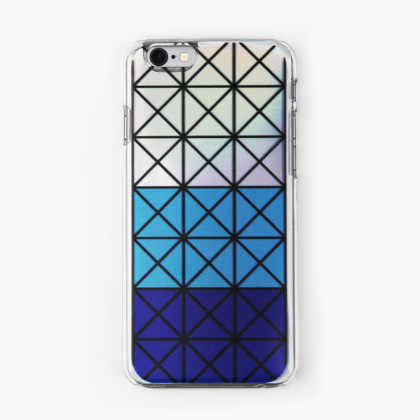 Blue Geometric Holographic iPhone Case - By Dominic  - 1
