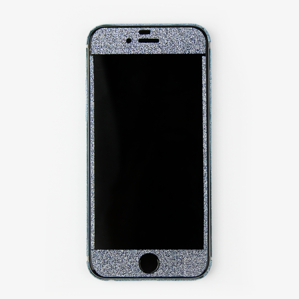 Blue Glitter iPhone Decal - By Dominic  - 3