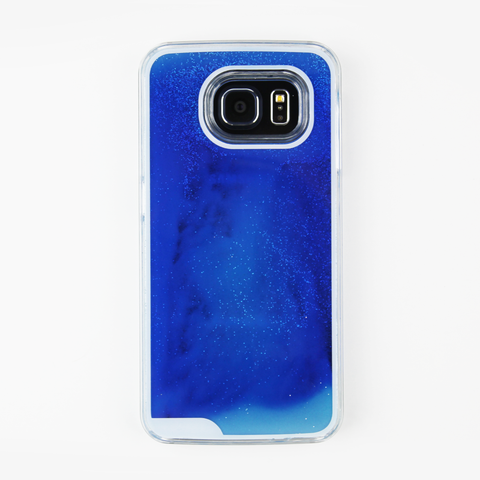 Blue Glow in the Dark Liquid Samsung Case - By Dominic  - 1