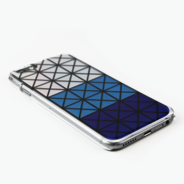 Blue Geometric Holographic iPhone Case - By Dominic  - 3