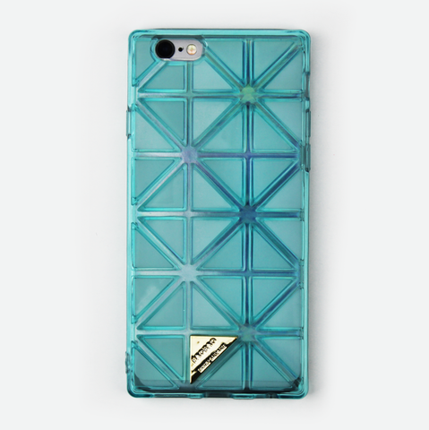 Teal Geometric Holographic iPhone Case - By Dominic  - 1