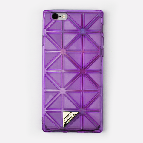 Purple Geometric Holographic iPhone Case - By Dominic  - 1