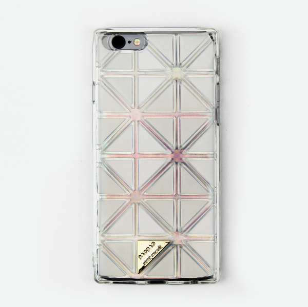 Clear Geometric Holographic iPhone Case - By Dominic  - 1
