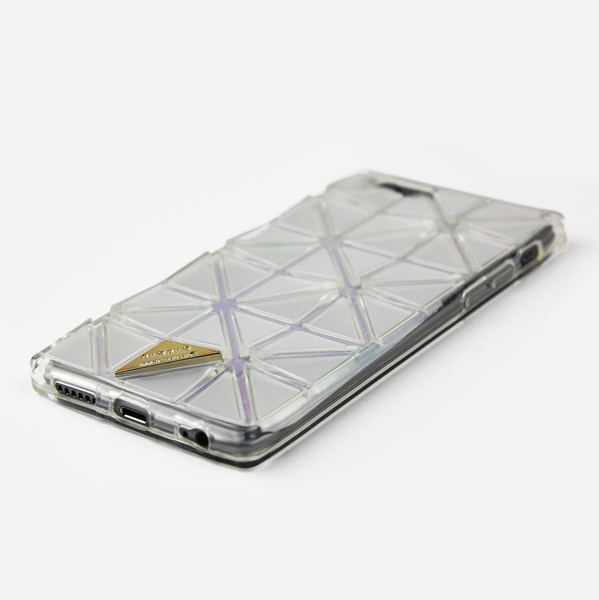 Clear Geometric Holographic iPhone Case - By Dominic  - 2