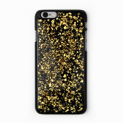 Gold Floating Black Flake Case - By Dominic  - 1