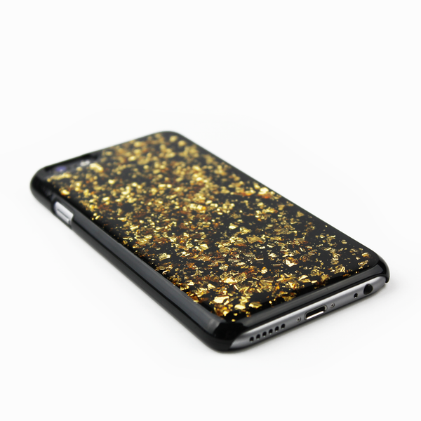 Gold Floating Black Flake Case - By Dominic  - 2
